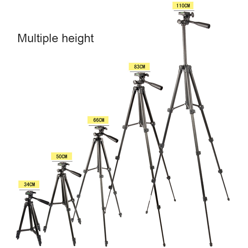 Professional Auminum Camera Tripod Stand Light Weight Adjustable Cell Phone Tripod