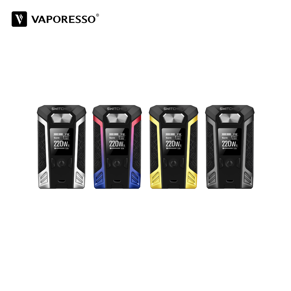 Original Vaporesso Switcher Box MOD 220W New Vape Mod from Vaporesso for NRG Tank Atomizer Electronic Cigarette Switcher Mod original electronic cigarette mod vape pen smoant charon 218w tc box mod mechanical mod leather cover free shipping
