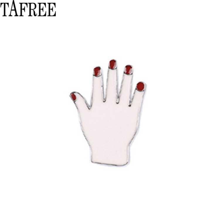 Tafree Merah Bibir, Mata, Tangan Semburan Bang mengagumkan Kerah Pin Enamel Bros untuk Tas, Topi, Kemeja Jeans Lencana Wanita Perhiasan LP360