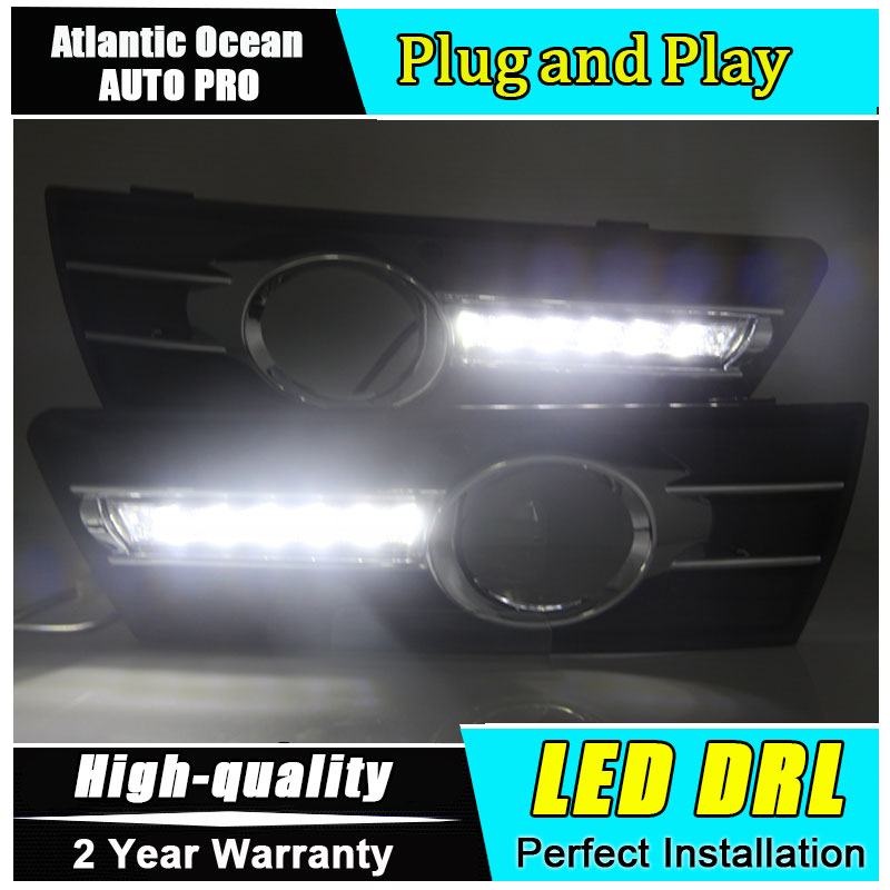 JGRT car styling For VW CC LED DRL 2011-2012 For CC led fog lamps daytime running light High brightness guide LED DRL jgrt 2011 for nissan sentra fog lights led drl turnsignal lights car styling led daytime running lights led fog lamps