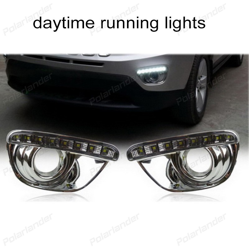 2pcs Car LED DRL Daytime Running Lights for J/eep C/ompass 2011-2015 fog lamp auto accessory mohsanath fatema islam and md mohan mia phenotypic characterization of indigenous goose
