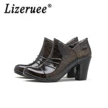 5014a381568 Lizeruee Rain Boots Waterproof Shoes Woman Rain Woman Water Rubber Ankle  Boots Flower Botas High Heel