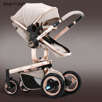 The Small Sun Baby Cart Can Sit And Lie On The High Landscape, The Four Wheel Shockproof Super Wide Bidirectional Baby Trolley