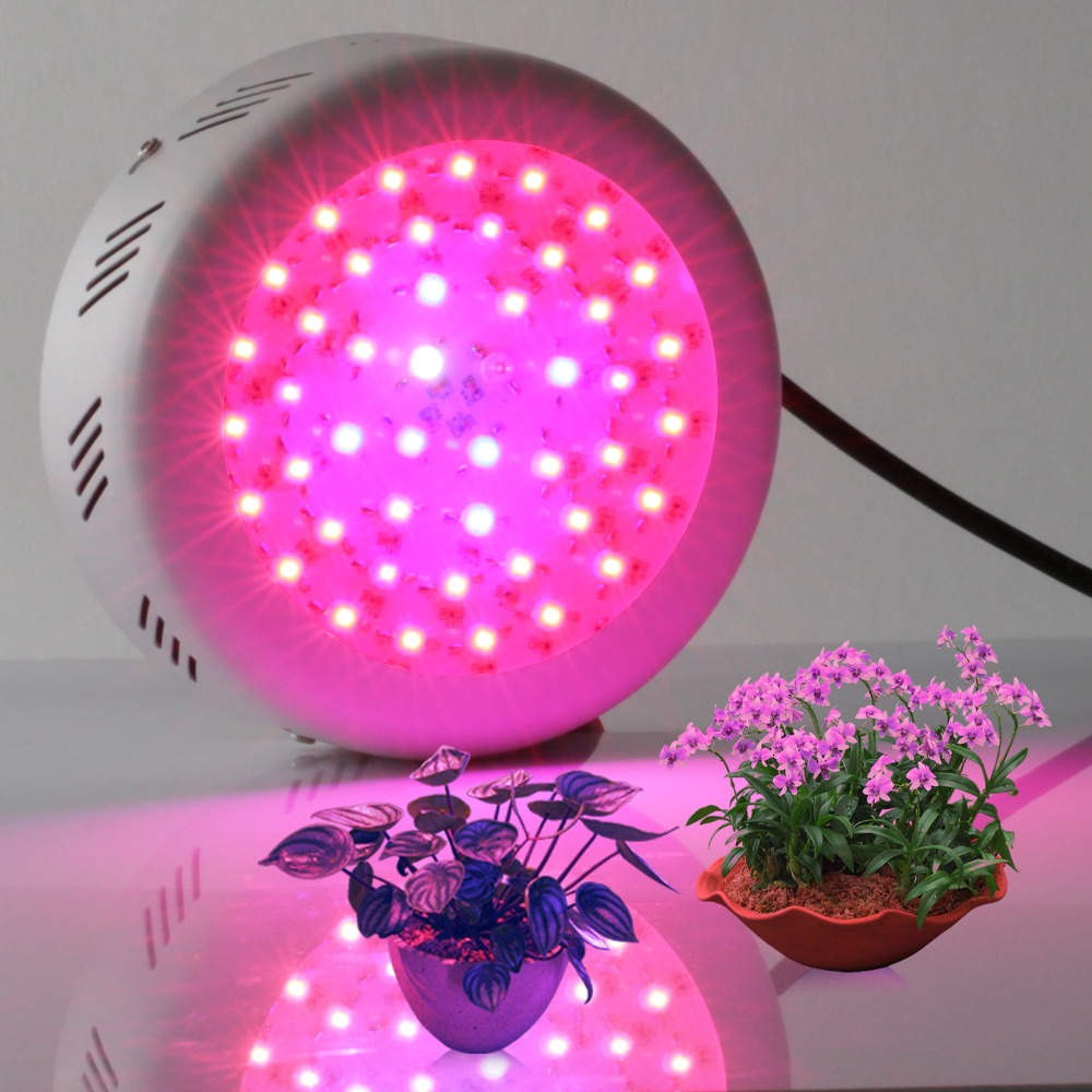 High Power 138w UFO led Grow Light 46*3w 9 Bands Full spectrum for Plants Photosynthesis Greenhouse indoor Garden led lamp mh 138w