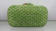 Versandkostenfrei!! A15-17, grüne farbe mode top kristallsteinen ringkupplungen taschen für damen schöne party tasche