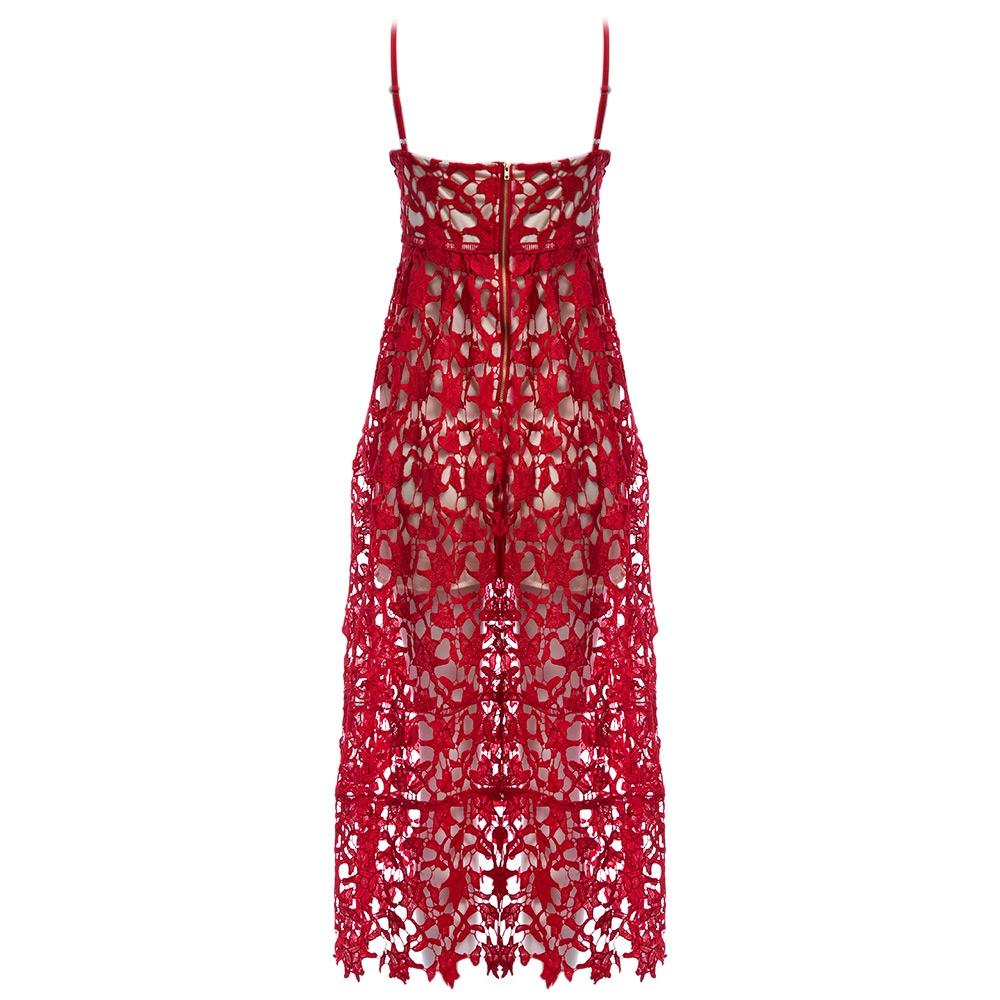 VESTLINDA Spaghetti Strap Backless Hollow Out Crochet Lace Dress Women Vestidos Mujer Robe Femme 2017 Summer Sexy Maxi Dress 9