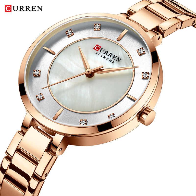 Curren אישה שעונים רוז זהב למעלה מותג יוקרה שעון נשים קוורץ עמיד למים נשים של שעוני יד גבירותיי בנות שעונים שעון