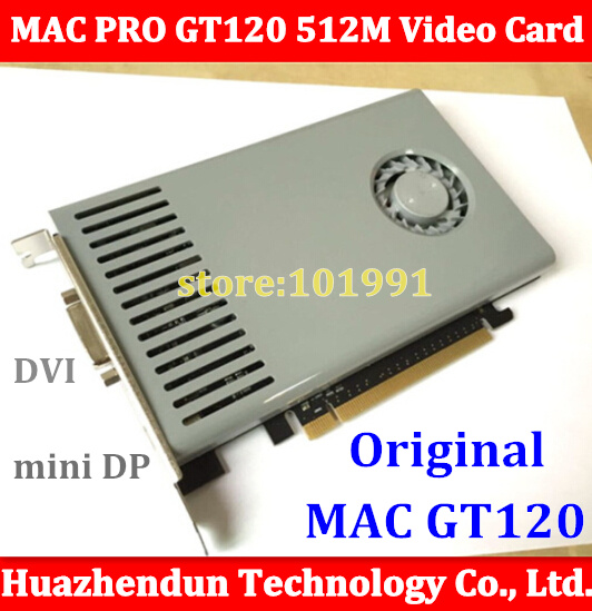 For Mac Pro NVIDIA GeForce GT120 512MB DDR3 DVI+mini dp interface for MP3.1-5.1 08-12 Machine ddr pc2700 512 мб для toshiba