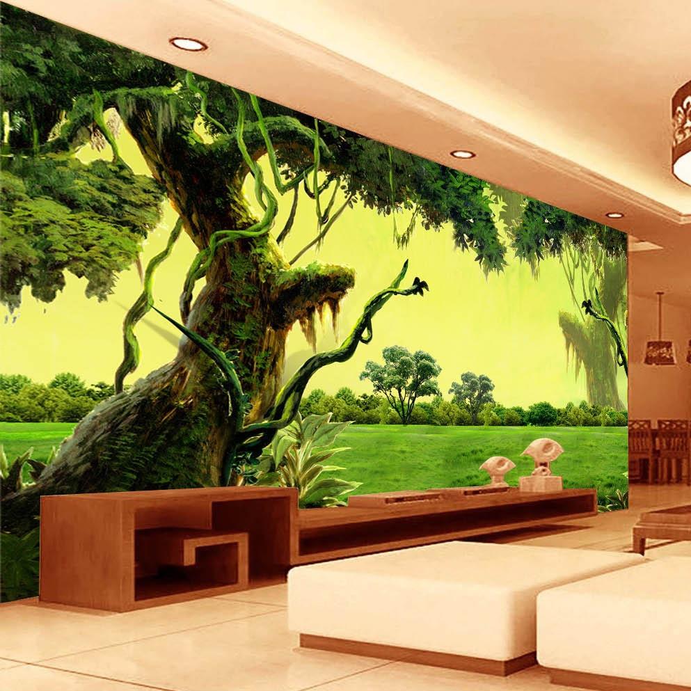 Online Get Cheap Chinese Wallpaper Murals Trees Aliexpresscom