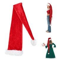 כובע סופר 1.5 m ארוך אדום כובעי כובעי חג המולד סנטה קלאוס מתנות לשנה החדשה חג המולד דקור סיטונאי למבוגרים מסיבת הבית אספקת