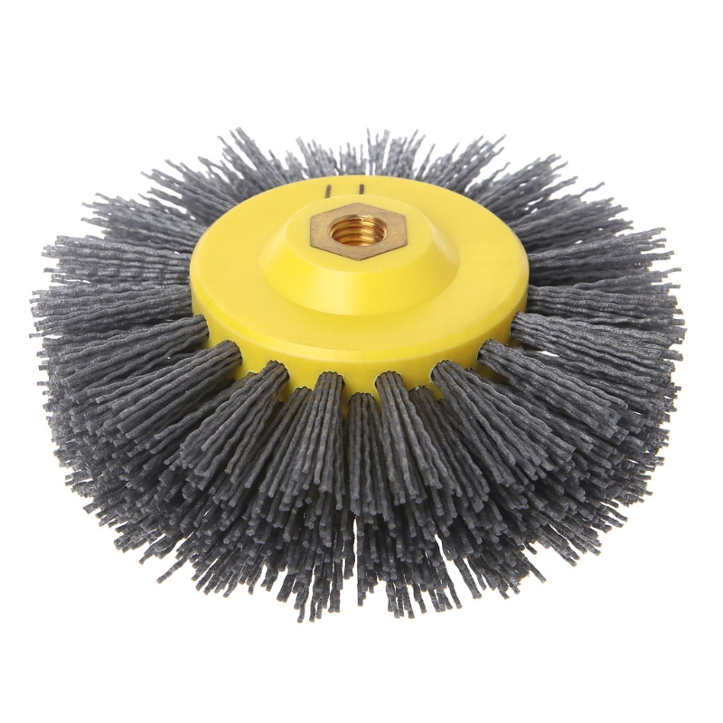 150X40X40mm Deburring Abrasive Steel Wire Brush Head Polishing Grinding Wheel For Furniture Wood Sculpture Rotary Drill -m18