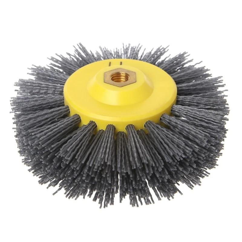 "6/"" 150mm Yellow Crimper Steel Wire Polishing Wheel Metal Rust Removal Deburring"