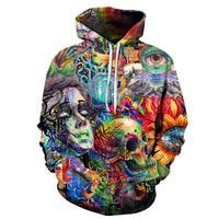 New Paint Skull 3D Printed Hoodies Men Women Sweatshirts Hooded Pullover Brand 3xl Qaulity Tracksuits Boy