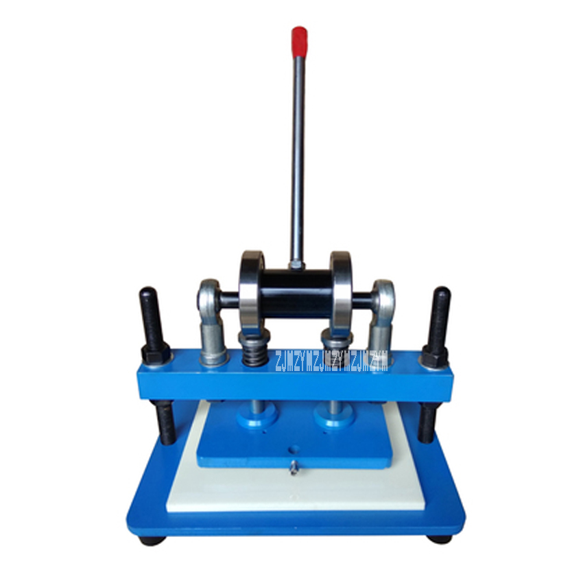 New Arrival Manual Die Cutting Machine Pressure Cutting Tool Die Punching Machine Leather Indentation Cutting Machine 230*150mm girl flower pot pattern cutting die