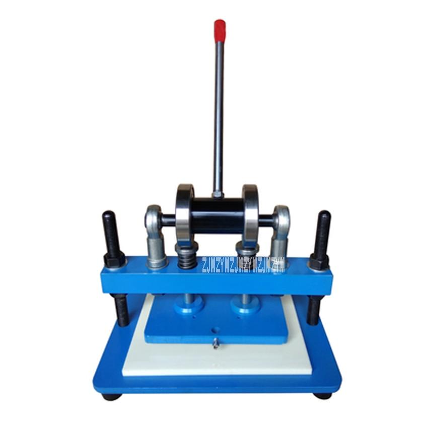 New Arrival Manual Die Cutting Machine Pressure Cutting Tool Die Punching Machine Leather Indentation Cutting Machine 230*150mm