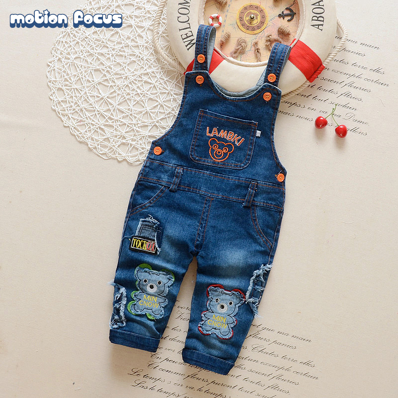 New 2017 Spring Baby Rompers Cartoon Embroidery Bebes Jeans Jumpsuit Boys Girls Denim Overalls Infant Clothing Newborn Clothes cotton baby rompers set newborn clothes baby clothing boys girls cartoon jumpsuits long sleeve overalls coveralls autumn winter