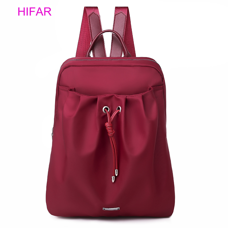 HIFAR 2019 Мода для женщин шнурок нейлон рюкзаки подростков обувь девочек