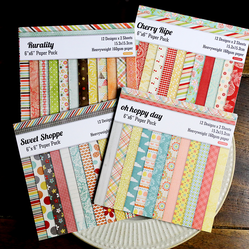 24pcs/Pack 6*6inch 12 Design Patterned Paper Pack For Scrapbooking DIY Happy Planner Card Making Journal Project