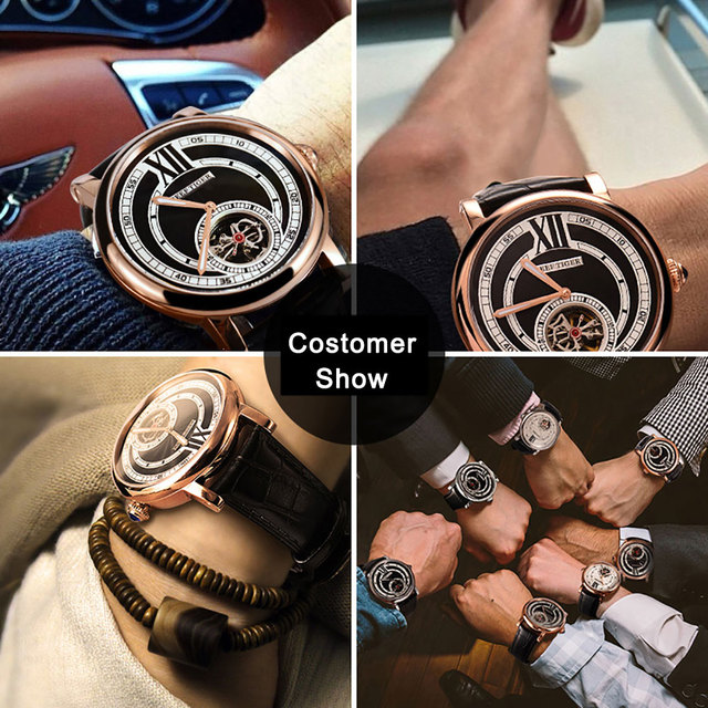 Atomatic Tourbillion Genuine Leather Watch