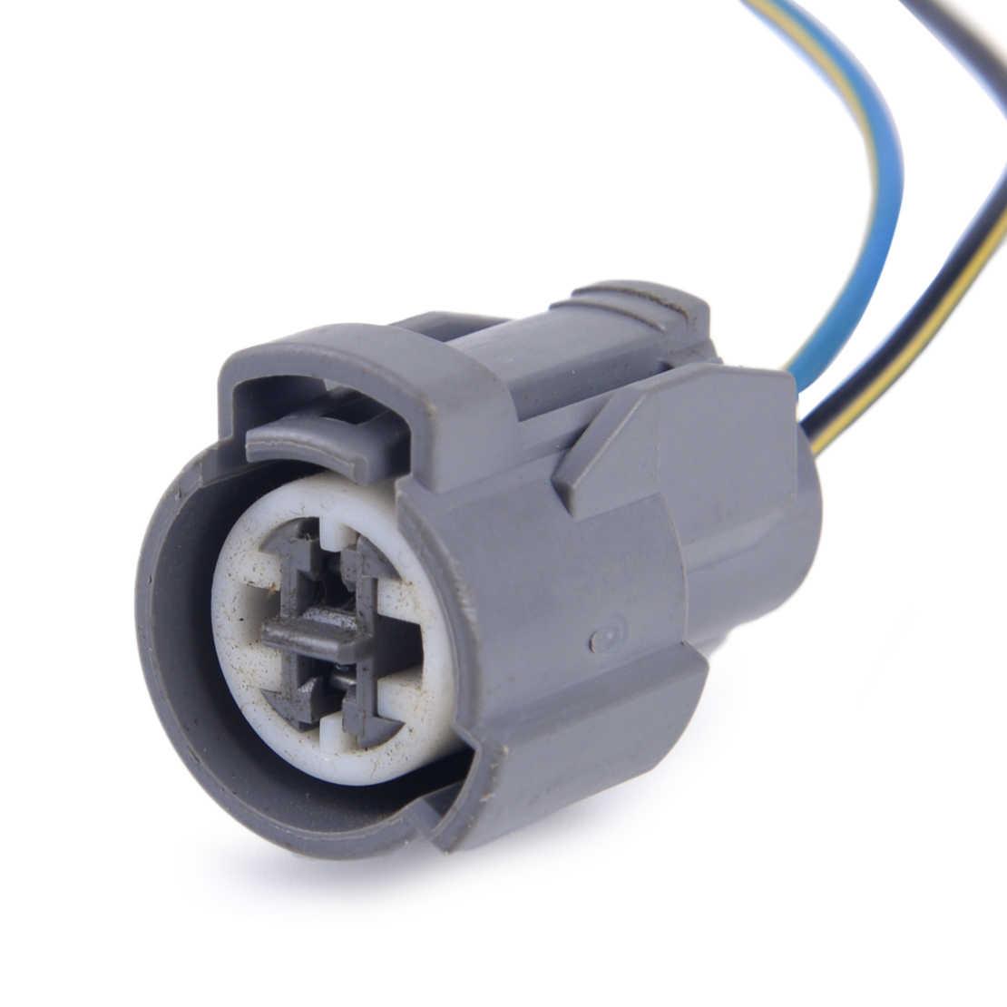 DWCX IAT Intake Air Temperature Fan Knock Coolant Temp Sensor Connector  Plug Pigtail Fit for Honda Civic B D H F Engines