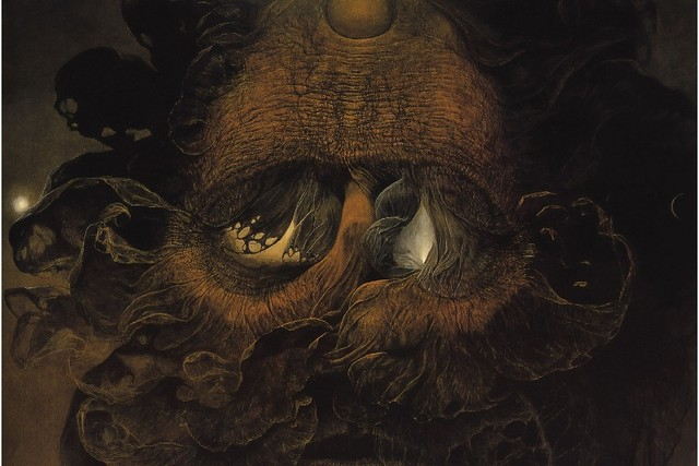 diy frame zdzislaw beksinski dark fantasy artwork poster fabric silk ...