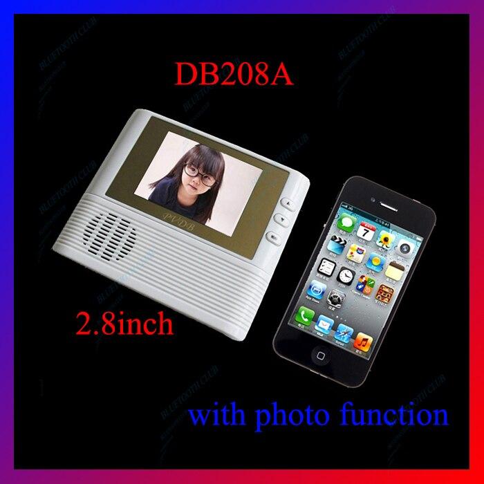 2.8 pouces DB208A visionneuse de porte écran LCD haute définition visionneuse de porte judas numérique caméra: vision nocturne, photo etc.