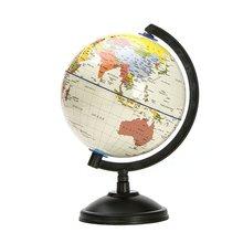 20 см белый Глобус с картой мира с поворотной подставкой, образовательная игрушка для географии, для повышения уровня познания земли и географии