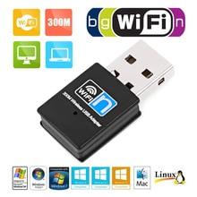 Tarjeta de red inalámbrica USB 300 M WIFI receptor inalámbrico externo mini adaptador de tarjeta de red inalámbrica wifi usb