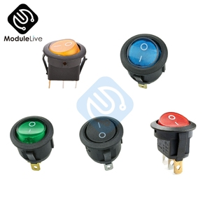 5Pcs SPST Switch 125/250V Led Dot Light 3 pins 2Positions Rocker Switch ON-OFF illuminated Car Dashboard Dash Boat Toggle