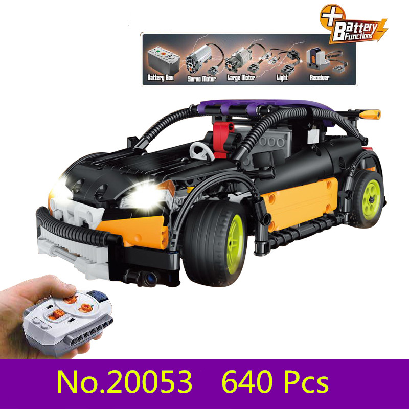 New Model building kits compatible with lego CITY 640PCS The Hatchback Type RC 3D blocks Educational toys hobbies for children wange mechanical application of the crown gear model building blocks for children the pulley scientific learning education toys