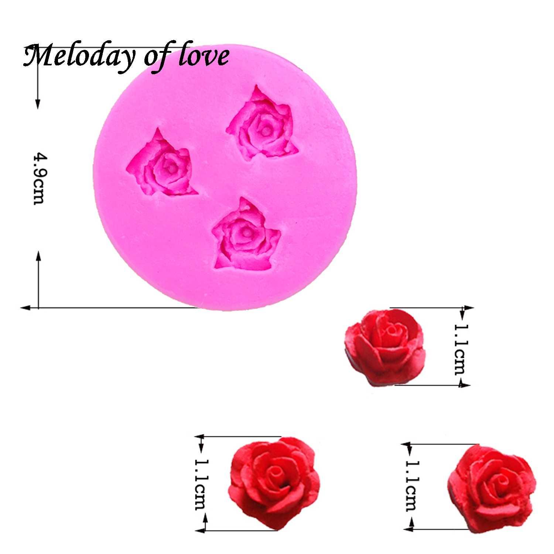 Molde De Silicone 3D Rose Cake Decorating Ferramenta De Molde Para Doces Gelo Chocolate Para F0B8