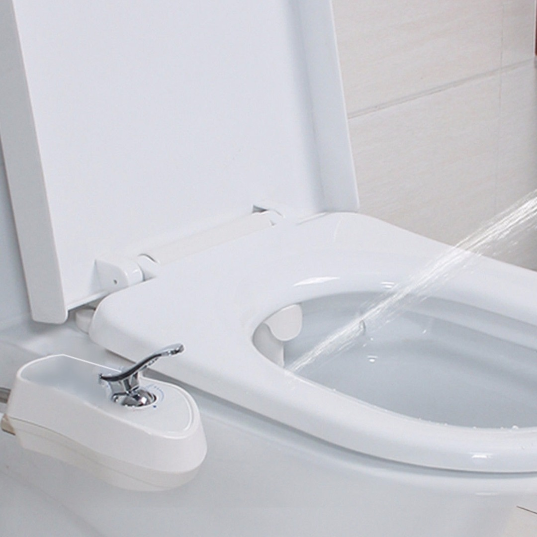 Non-Electric Hot And Cold Water Bidet Toilet Seat Attachment Mayitr Bathroom Washing Gun Self-Cleaning Noozle Hot Selling