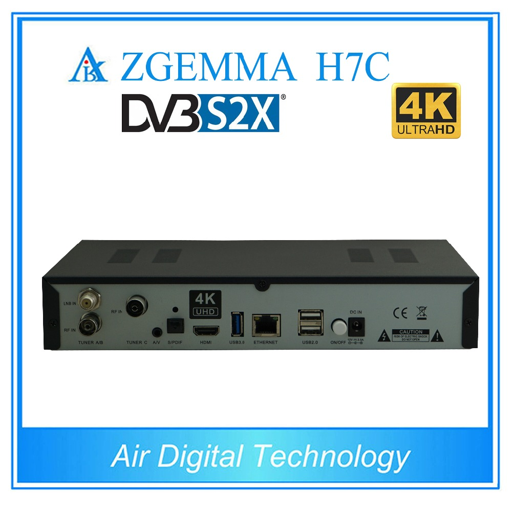 US $2022 3 10% OFF|10 pcs/lot zgemma h7c 4k ultra hd tv decoder dvb s2x/s2  + twin dvb t2 & dvb c support multi stream-in Satellite TV Receiver from
