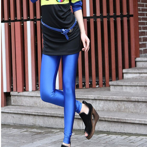 Image 2 - CoolCheer брендовые пикантные однотонные яркие неоновые женские леггинсы растягивающиеся Джеггинсы одежда для фитнеса