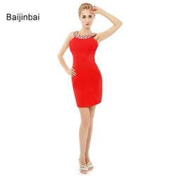 Baijinbai halter sexy chiffon draped beading backless sleeveless formal dresses mermaid women dress 2017 new style.jpg 250x250