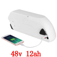 48 v 750 w סוללה 48 v 12ah ליתיום סוללה 48 v 12ah אופניים חשמליים סוללה שימוש samsung סלולרי עם יציאת USB + 54.6 V 2A מטען-בסוללה לאופניים חשמליים מתוך ספורט ובידור באתר