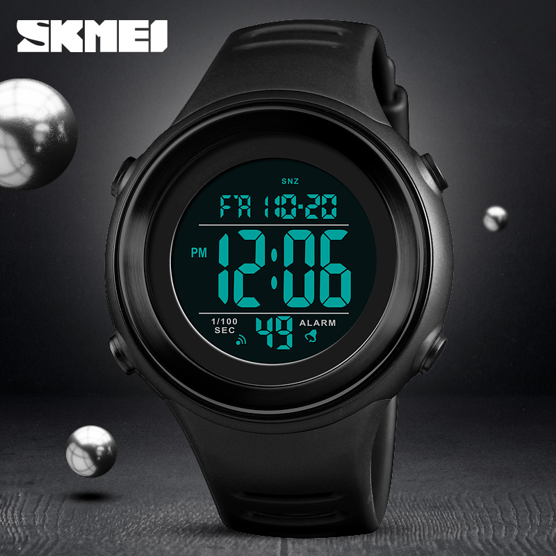 <font><b>SKMEI</b></font> Brand LED Luminous Sports Wristwatches Men Fashion Digital Watches Military Backlit Swim 50M Waterproof Watch Montre Homme image