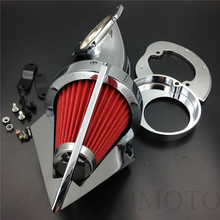 Aftermarket free shipping motorcycle parts Cone Spike Air Cleaner Kit for  Yamaha Vstar V-Star 650 all year 1986-2012 CHROME