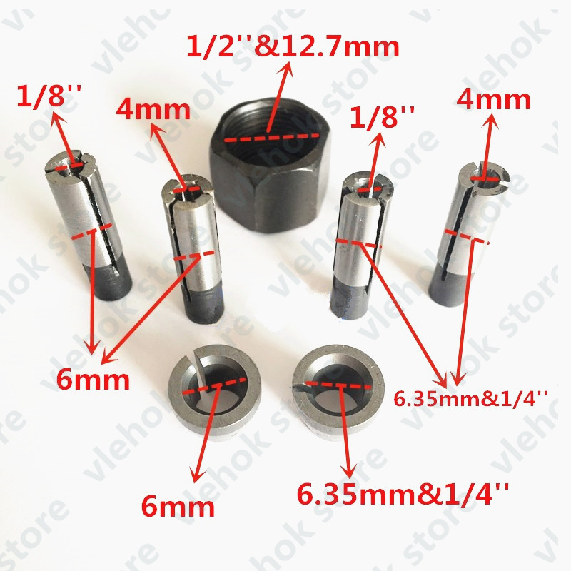 Collet Nut Cone 6mm 6.35mm replace for Makita 3701 3708FC 3708F 3707FC 3706 3707F 3705 3703 3700B 3700D 3620 3709 electric toolsCollet Nut Cone 6mm 6.35mm replace for Makita 3701 3708FC 3708F 3707FC 3706 3707F 3705 3703 3700B 3700D 3620 3709 electric tools