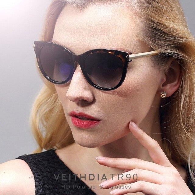 Veithdia óculos de Marca Olho de Gato Designer De Senhoras Das Mulheres Do  Vintage Grandes Óculos 5d8e10f91c