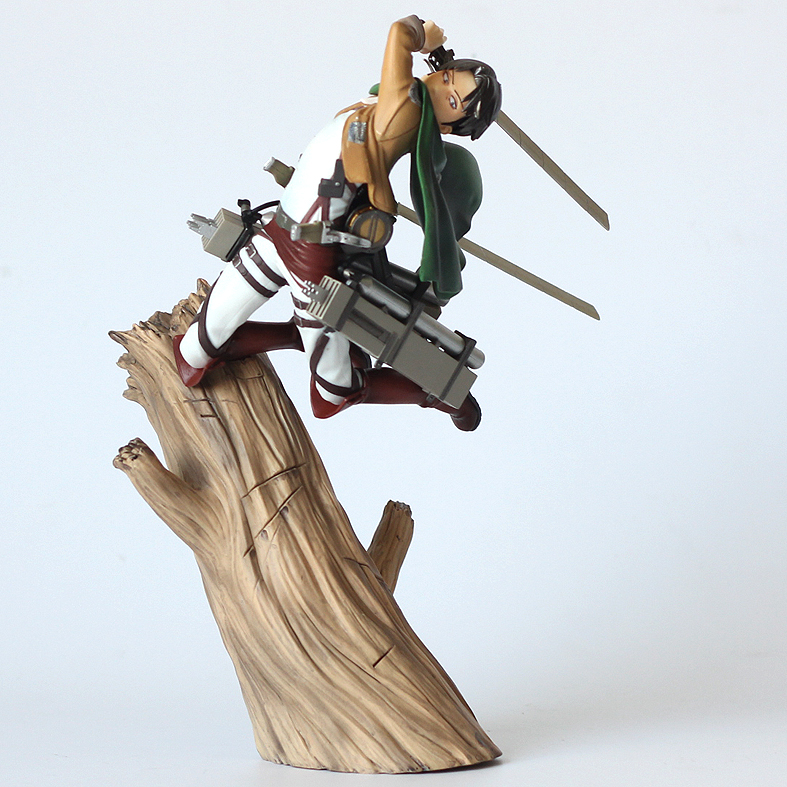 Comic Anime Attack On Titan Levi Ackerman Battle State Jiyuu no Tsubasa 25cm Kotobukiya Statue Figure Figurine Toys все цены
