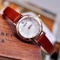 New KEZZI relógios de Pulso das Mulheres Moda Flores Mãe De Discagem Pérola com Pulseira de Couro Movimento de Quartzo Relógio À Prova D' Água Senhoras Relógio