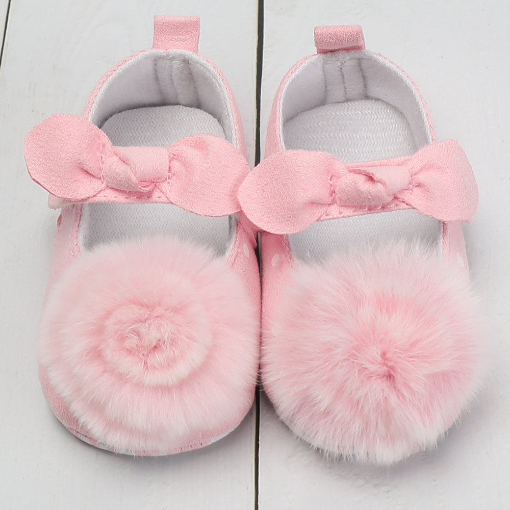 Newborn Baby Shoes Infant Booties Prewalker Cotton Leather Pink Flowers Baby Shoes Girls Soft Sole Moccasins Kids Footwear