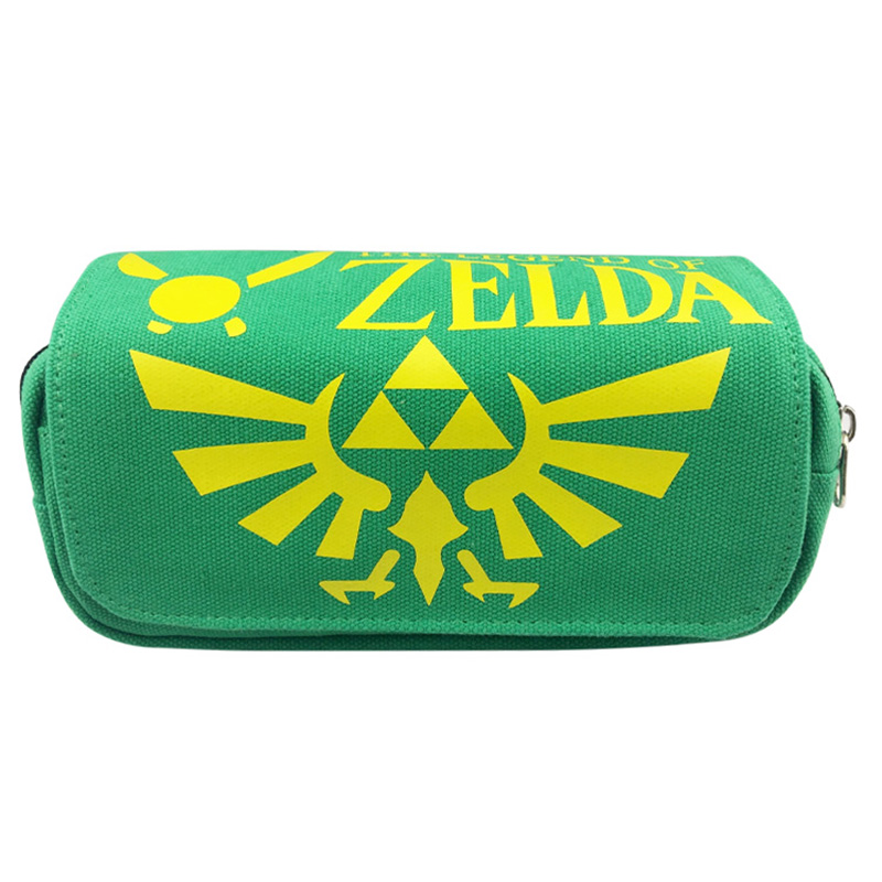 Hot Anime Legend of Zelda Pencil Case Anime Game of Thrones Supernatural Students Stationery Pen Holder Bags Zipper Cosmetic Bag