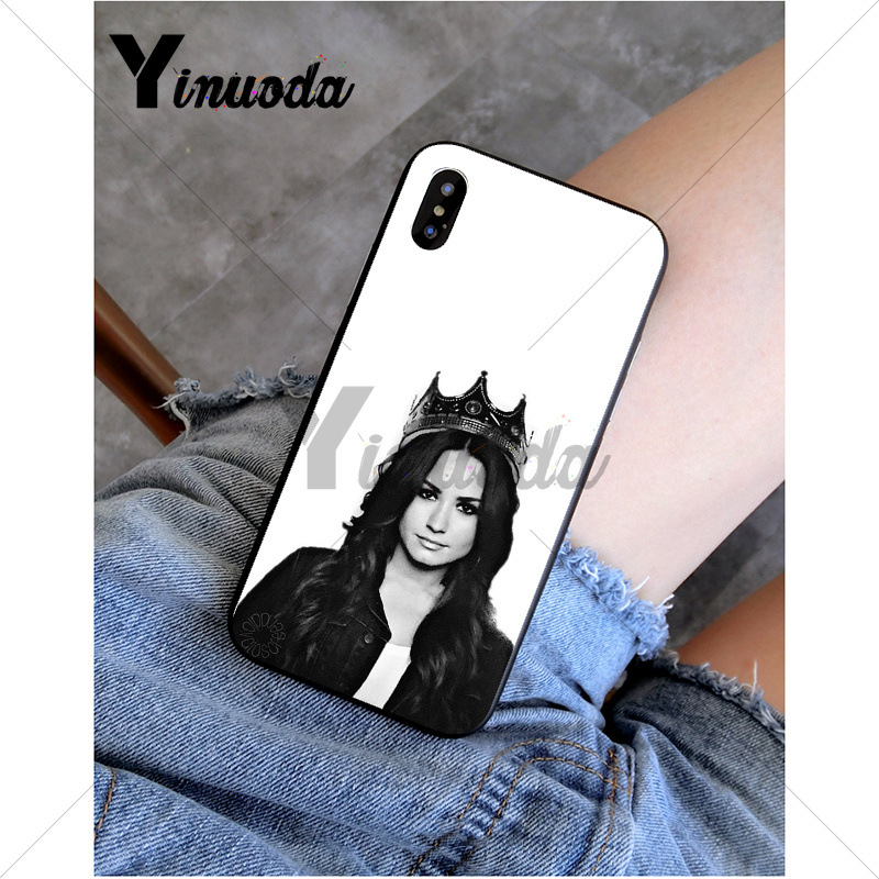 Yinuoda demi lovato Customer High Quality Phone Case for Apple iPhone 8 7 6 6S Plus X XS MAX 5 5S SE XR Mobile Cover