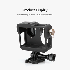 Image 3 - Vamson for Gopro Accessories Aluminum Metal Protective Housing Case CNC Frame + Lens Cap Cover Filter for Gopro Hero 4 VP636