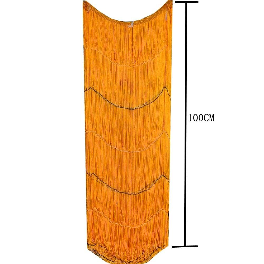 Long Fringe Tassel 50CM-100CM Diy Performance Dance Trims 1 Yards Latin Dress Trimming Lace Single Banded Soft Polyester Macrame
