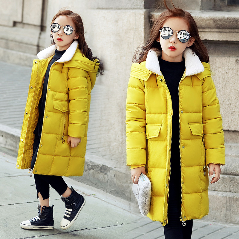 2017 New Girls Jacket Winter Cartoon Lovely Keeping Warm Kids Coat Children Cotton Casual Hooded Thick Outerwear free shipping children thick winter jacket fashion jacket winter paragraph girls hairs ball cartoon embroidered cotton outerwear coat