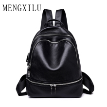 купить MENGXILU Genuine Leather Backpack Women Students school bags teenagers girls small backpacks women travel bag mochila bolsas по цене 2606.55 рублей