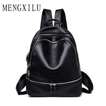 MENGXILU women's backpacks Genuine Leather students school bags teenagers girls small backpacks women travel bag mochila bolsas